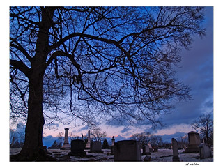 Winter Sunset Blankets Graves