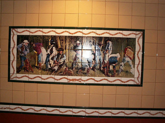 Pioneer Hall Restrooms - Mural