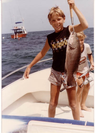me and a red snapper