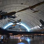 Steven F. Udvar-Hazy Center: Profile view of the SR-71 Blackbird, F-4 Corsair, Peashooter, among others