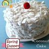 Late night snack. #diy #coconutCake #feltfood from our newest #pattern #springsupper #americanfeltandcraft  #felt