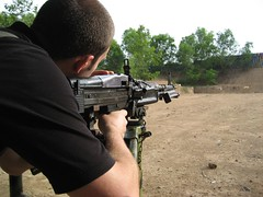 soldier(1.0), weapon(1.0), shooting sport(1.0), shooting(1.0), shooting range(1.0), firearm(1.0), gun(1.0),