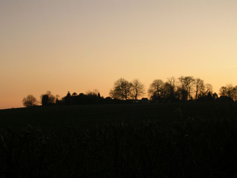 sunset skyline Yalding to Borough Green