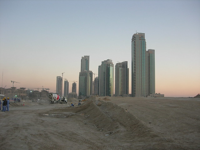Skyscrapers rising