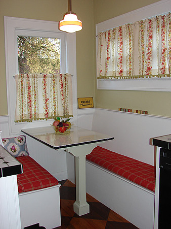 Our retro kitchen booth seat at our old place explore conf flickr photo sharing - Kitchen corner booth ...