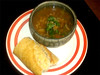 Beef Barley Soup and French Bread