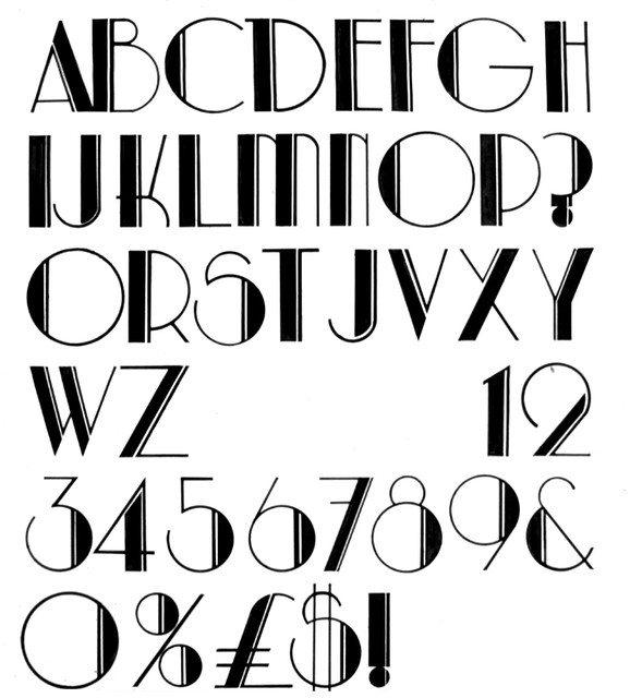 Deco font flickr photo sharing for Art deco writing
