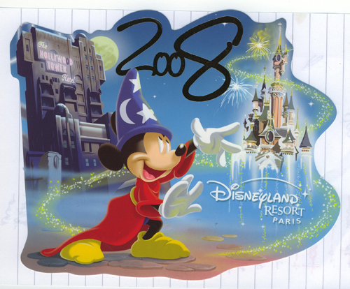 Disneyland Resort Paris 2008 postcard