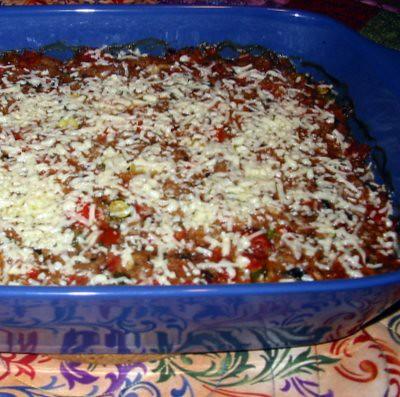 """Turkey-Zucchini Casserole"""
