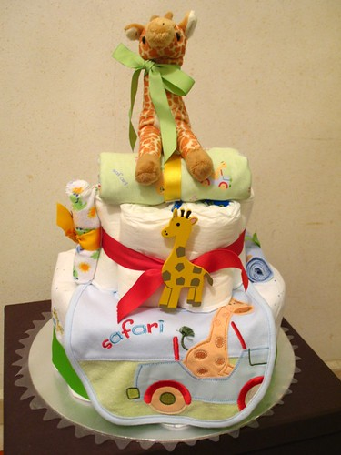 On Safari Diaper Cake