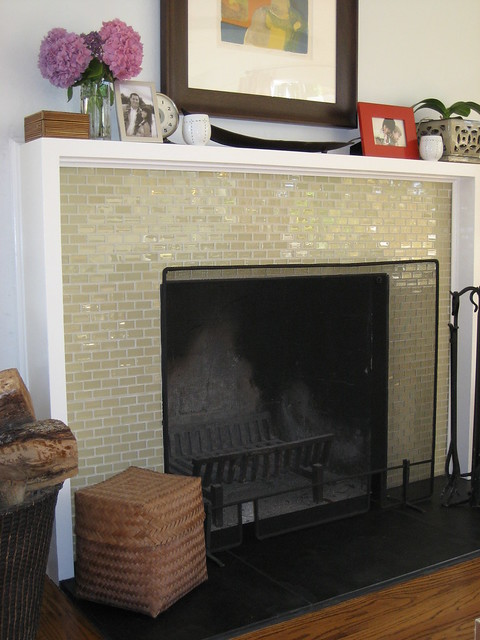 Beautiful Glass Tile Fireplace 1 Flickr Photo Sharing