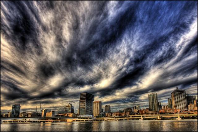 Brisbane Sunset - Flickr CC burningimage