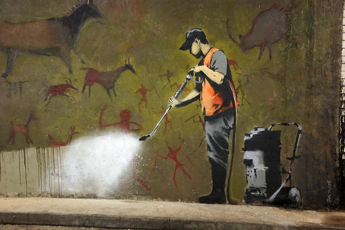 Banksy Cleans Up - Cave Painting