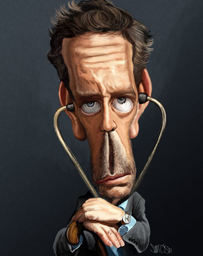 Dr. House MD Caricature Hugh Laurie