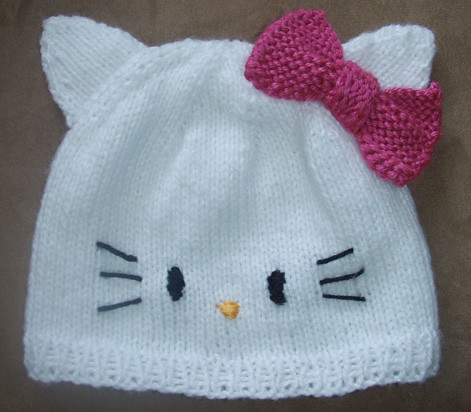 Knitting Pattern For Hello Kitty Hat : hello kitty adult Flickr - Photo Sharing!