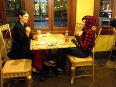 sisters having coffee & dessert   DSC00366