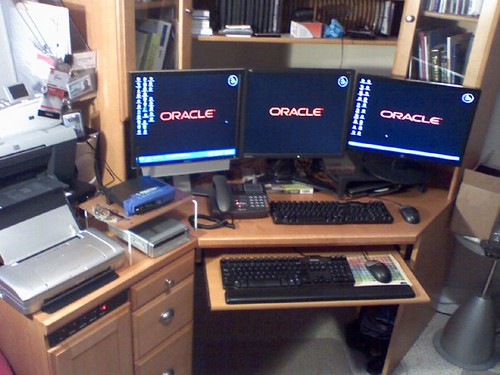 Three monitors are better than one :)