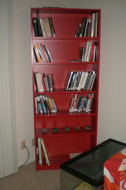 apartment colorful bookcase