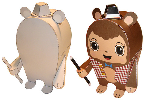 Paper Character 1 Photos | Blank and Bear Paper Toy | 024