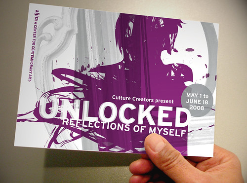 """Unlocked"" Exhibition Postcard/Invitation"