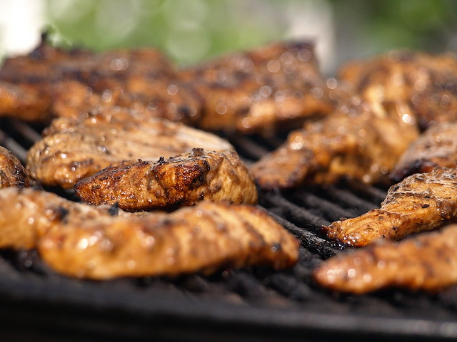 Charcoal Grilled and Hickory Smoked Chicken Breasts | Flickr - Photo ...