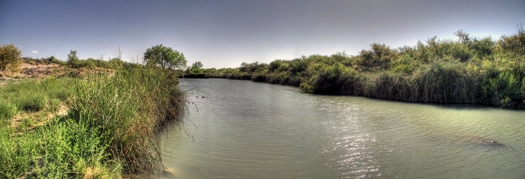 Carlsbad New Mexico - Black River upstream of Old Cavern Road Crossing