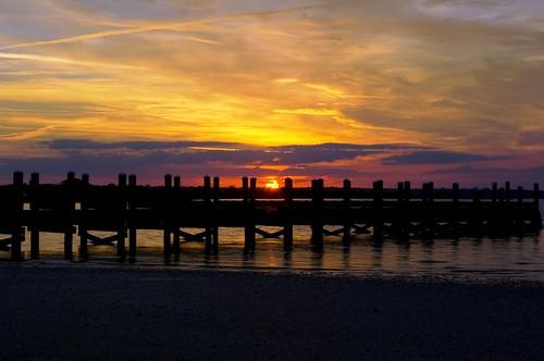 sunset beauty night river pier twilight abigfave pentaxk10d