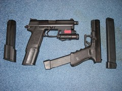Hk and Glock with extended Clips
