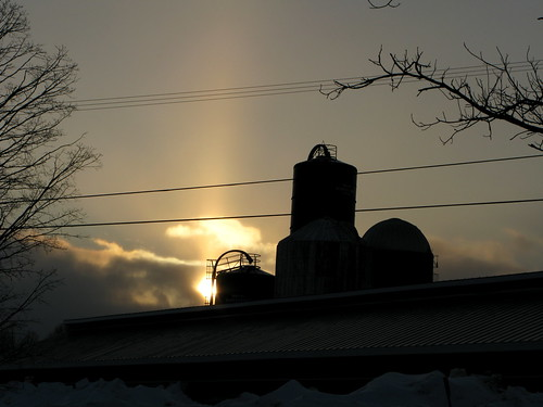winter sunset sun tree clouds vermont sundown farm silo randolphcenter canong9