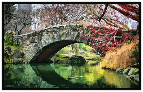 nyc lake newyork primavera cutout lago spring centralpark hdr highdynamicrange stonebridge gapstowbridge ef50mmf14usm canoneos5d espinal brickbridge pondhabitat