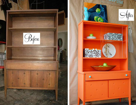 Before And After Barb S Hutch Makeover Design Sponge
