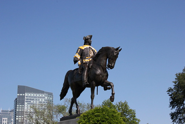 George Washington, the Bruins Fan