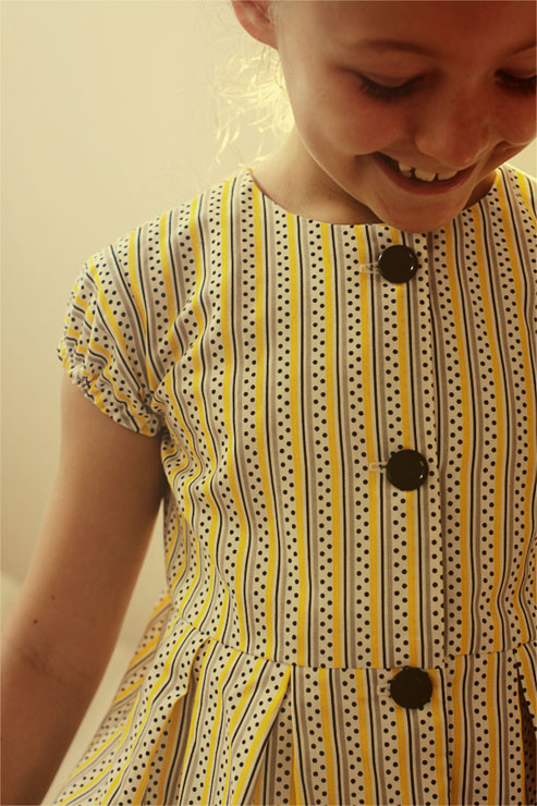 Yellow Stripes Dress #4