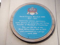 Photo of David Gregory Marshall blue plaque