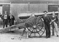 aviation(0.0), vehicle(0.0), steam engine(0.0), coachman(0.0), horse and buggy(0.0), aircraft engine(0.0), weapon(1.0), history(1.0), cannon(1.0),