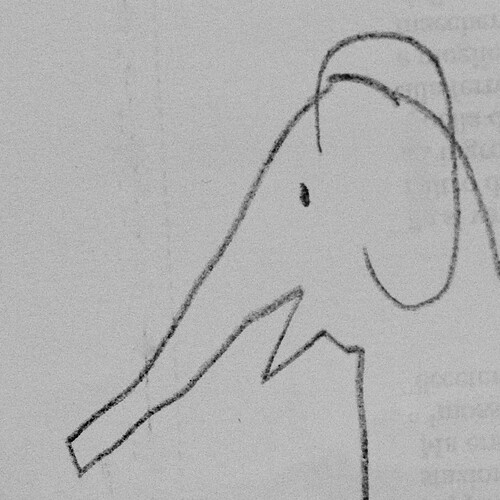 sketch of an elephant
