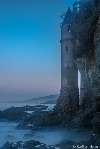 2017 californiacoastline cliffside karltonhuber lagunabeach landmark longexposure morninglight mysterious southerncalifornia stonestructure thepiratetower verticalimage victoriabeach victoriatower