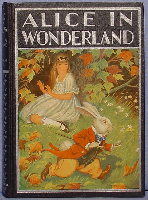 Alice In Wonderland Classic Book Cover ~ Alice in wonderland black antique book flickr photo