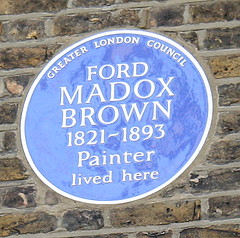 Photo of Ford Madox Brown blue plaque