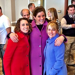 They're all wearing the exact same J Crew coats. And it wasn't planned!