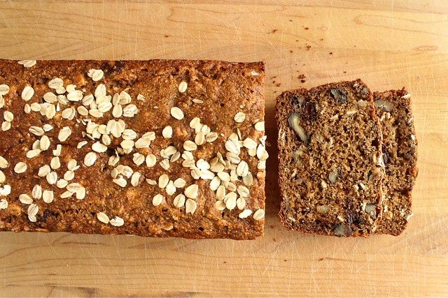whole wheat kefir banana bread.