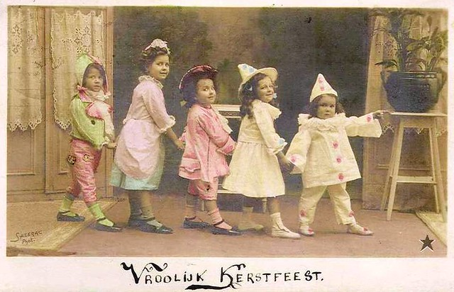 Vintage postcard kids in costumes flickr photo sharing