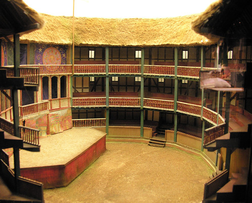 The Globe Theatre by Cyberslayer on Flickr.  Used through Creative Commons.