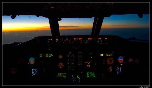 november autumn sunset tramonto novembre cockpit autunno 2007 md80
