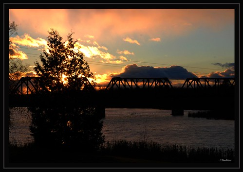 Rail Bridge Sunset