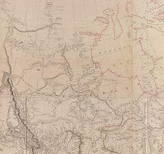 A Section of the Map of the Map of North America (Aaron Arrowsmith 1814)