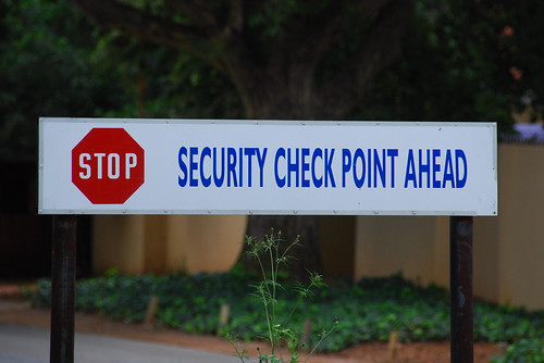 SECURITY CHECK POINT AHEAD