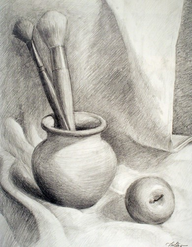 Paintbrushes in Jar, pencil | Flickr - Photo Sharing!