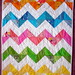 zig zag baby quilt (adapted from Purl Bee and Denyse Schmidt's Big Zig)