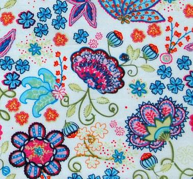 White European fabric, Oilily style.
